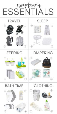 This list of newborn essentials is designed to be the complete list of everyday, must-have items that first time moms trust and love. Newborn Baby Tips, Newborn Needs, Newborn Care, Must Haves For Newborn, Newborn Baby Essentials, Baby Must Haves, Baby Registry Essentials, Baby Registry Items, New Home Essentials