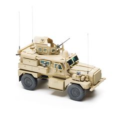 Panda Hobby Cougar 4 x 4 MRAP - With mines and IEDs an ever-present threat on today's battlefield, vehicles must withstand deadly blasts to keep the crew intact. Built by Force Protection, Inc., the Cougar is designed with crew survivability in mind. Used primarily by the U.S. Marine Corps, the Cougar has been keeping its troops safe on the front lines since 2004.