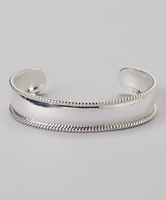 Take a look at this Sterling Silver Twist Cuff by Mariposa by Athra on #zulily today! $27!!