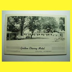 """1940's GOLDEN CHERRY MOTEL Opelika Alabama AL   The motel scene from """"Norma Rae"""" was shot here. They built a small two story unit for the movie."""