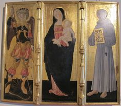 Neroccio di bartolomeo landi, madonna col bambino e santi, 1476.