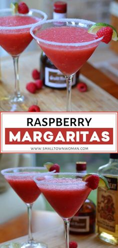 Complete your holiday party with some mouth-watering Raspberry Margaritas perfect for a crowd! With just a few simple ingredients and a few minutes, you will have a refreshing beverage that is sure to impress the guests! Raspberry Margarita, Raspberry Cocktail, Margarita Recipes, Cocktail Recipes, Recipe For Cocktail, Cocktail Ideas, Magarita, Sylvester Party, Perfect Margarita