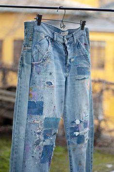 Parsittu ja paikattu: Tytti Nieminen - Taitojärjestö Jeans, Fashion, Moda, Fashion Styles, Fashion Illustrations, Denim, Denim Pants, Denim Jeans