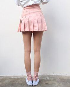 Skirt  pink light pink pastel short love tennis back to school pleated pink  mini Pleated 113cbfbcf