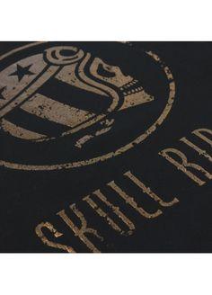 Skull Logo Bronze - Black