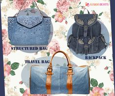 Three wardrobe essential bags for all the denim lovers. #StyleTip #DenimStudio #SS15