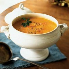 Pumpkin and Yellow Pepper Soup with Smoked Paprika | MyRecipes.com