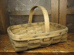 Oak splint farmhouse gathering basket. I use this basket to carry warm homemade bread in.
