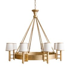 Orourke Chandelier  Transitional, MidCentury  Modern, Contemporary, Traditional, Metal, Chandelier by Julie Neill Designs