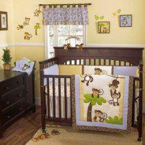 Monkey Time Four Piece Crib Bedding Set