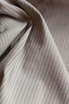 Fair trade / hand woven pinstripe  Tammachat Natural textiles Rose Buds, Silk Fabric, Fair Trade, Dressmaking, Sewing Tutorials, Hand Weaving, Textiles, Trending Outfits, Natural