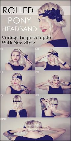 Vintage Inspired Updo With New Style