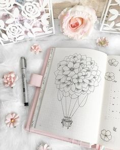 hot air balloon bullet journal layout<br> Lets float up up and away with these gorgeous hot air balloon bullet journal layout ideas and spread inspiration for all types of BuJos Bullet Journal Mood, Bullet Journal Junkies, Bullet Journal Layout, Bullet Journal Ideas Pages, Bullet Journal Inspiration, Air Balloon Tattoo, Hot Air Balloon, Bellet Journal, Kunstjournal Inspiration