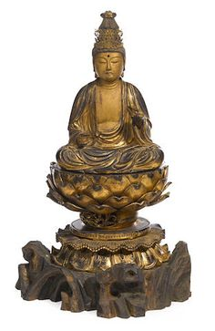 A gilt-wood figure of a bodhisattva Edo period (18th century)