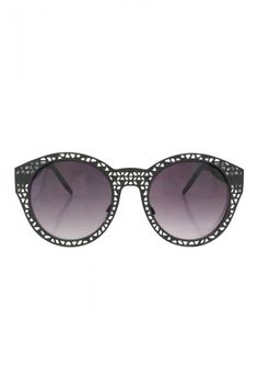 Metal Framed Fashion Sunglasses with Different Shape Holes