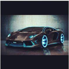 'Tron' inspired Lamborghini Aventador! #ferrari vs lamborghini #customized cars #celebritys sport cars Sweet...