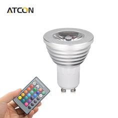 new arrival 1Pcs 16 Colors Dimmable GU10 RGB LED lamp 110V - 220V 5W With 24 Keys Remote Controller Spotlight