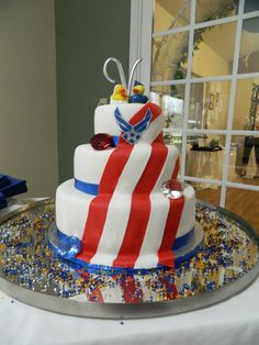 Our Air Force wedding cake