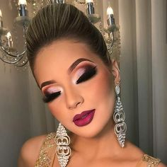glam makeup – Hair and beauty tips, tricks and tutorials Glam Makeup Look, Cute Makeup, Gorgeous Makeup, Makeup Looks, Smokey Eye Makeup, Eyeshadow Makeup, Hair Makeup, Make Up Gold, Eye Make Up