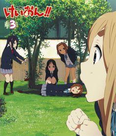 /K-ON!/#381135 - Zerochan | K-On! | Kakifly | Kyoto Animation / K-ON!! DVD Volume 3 Cover / Hirasawa Yui, Tainaka Ritsu, Akiyama Mio, Kotobuki Tsumugi, and Nakano Azusa