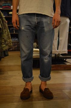 Older Mens Fashion, Denim Fashion, Casual Styles, Cool Style, My Style, Denim Style, Style Guides, Blue Jeans, Vintage Outfits