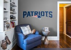 f117852aff9 New England Patriots  Logo - Giant NFL Transfer Decal wall decals are an  easy decor solution from Fathead that add elegance to your walls.