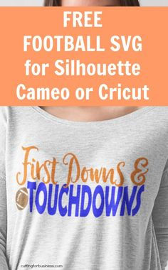 """Free Football Themed SVG Cut File for Silhouette Cameo or Cricut Vinyl Crafters - by <a href=""""http://cuttingforbusiness.com"""" rel=""""nofollow"""" target=""""_blank"""">cuttingforbusines...</a>"""