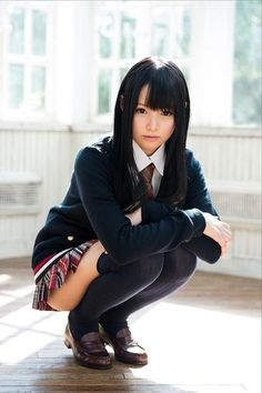 Asian school girl look...