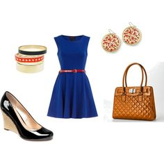 Blue dress with bright accents, created by mikkell-brown-parish
