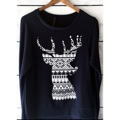 • Reindeer Sweatshirt • Are you ready for that holiday party?! Get prepared with this black nordic reindeer sweater! So soft and cozy! 36% cotton, 34% spun poly, 19% rayon, 11% polyester. PLEASE DO NOT purchase this listing. Comment your size below and I'll make a new listing for you. No trades. Jennifer's Chic Boutique  Sweaters Crew & Scoop Necks