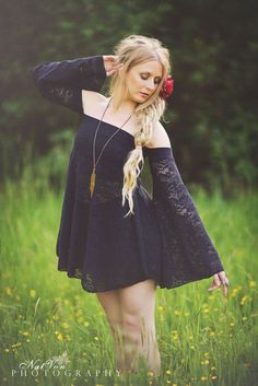 Boho Baby Doll Dress in Black Crochet Lace by Sacred Empire