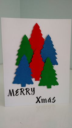 Merry Xmas W/ Envelope by 3xCreativeBs on Etsy