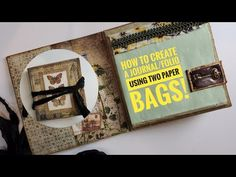 How to create a journal / folio using TWO paper bags. Art Education Projects, Book Projects, Education Journals, Paper Bag Album, Paper Bags, Book Page Art, Book Art, Mini Scrapbook Albums, Mini Albums