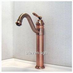 Luxury Antique Copper Bathroom Vessel Sink Faucet A3