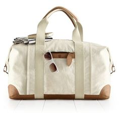 This bag!   Canvas with Leather Weekender Bag   Mark and Graham
