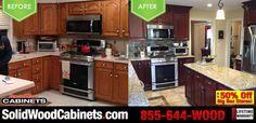 #beforeandafter #cherrycabinets #kitchencabinets #discountkitchencabinets #kitchendesign #kitchenislands #countertops #marble #granite #kitchenremodeling #homeimprovement #homeremodeling