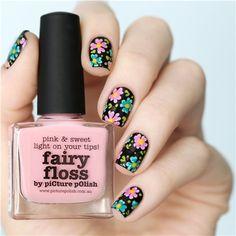 All About Nail Designs and Nail Art Picture Polish, Fabulous Nails, Perfect Nails, Cute Nail Art, Cute Nails, Nail Art Designs, Cute Spring Nails, Flower Nails, Trendy Nails