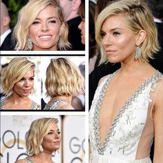 sienna miller -i want this hairstyle Love Hair, Great Hair, Sienna Miller Short Hair, Sienna Miller Makeup, Hair Styles 2016, Long Hair Styles, Short Haircut Styles, Hair Affair, Hairstyles Haircuts