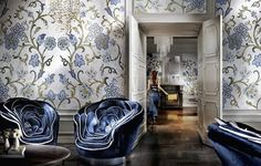 The Blue Rose Armchair  The unique design of a majestic blue rose, something new and creative   www.bocadolobo.com   #bluerose #luxuryarmchair