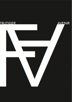 Eigen Werk - Typografie - Zwart/wit - Abstract - Avenir / Frutiger