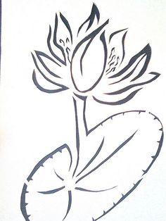 lotus stencil, via Flickr.
