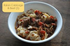 Italian Cabbage and Beef- so quick and easy! Yum!