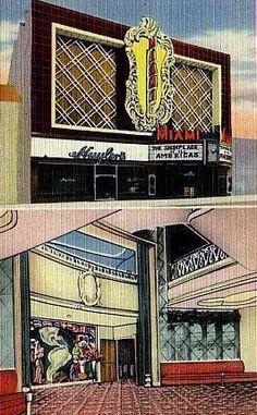 Miami Theatre Postcard Vintage