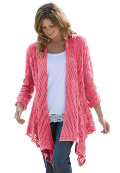 Plus Size Cardigan sweater, open front   Plus Size sweaters   Woman Within