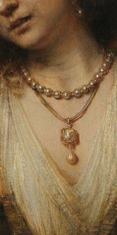 Rembrandt van Rijn - Lucretia, detail