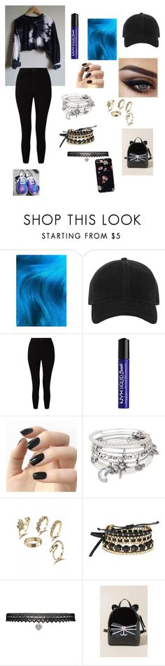 """hipster concert outfit"" by larissamoore ❤ liked on Polyvore featuring Lime Crime, rag & bone, Miss Selfridge, NYX, Incoco, Alex and Ani, Avon, Betsey Johnson and Francesca's"