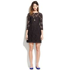 lily lace dress  $158.00 Item#86768  Romantic in every sense of the word: A timeless sheath covered in swirling floral lace.    Madewell