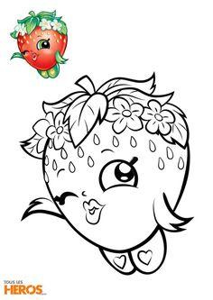 Coloriage Shopkins à imprimer, coloriez Fraisy la Fraise et sa couronne de fleurs Doodle Art Drawing, Girl Drawing Sketches, Baby Drawing, Drawing For Kids, Art Drawings, Ice Cream Coloring Pages, Fairy Coloring Pages, Coloring Pages For Kids, Coloring Books