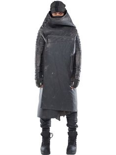 DEMOBAZA FORESTER WASHED NEOPRENE COAT, WASHED BLACK. #demobaza #cloth #coats