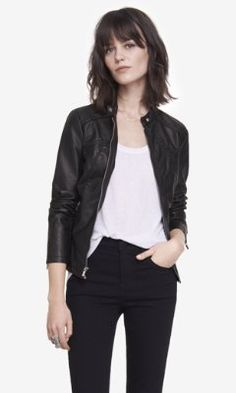 (minus the) leather jacket from EXPRESS (available in black and brown)  Leather 7ceeff52b